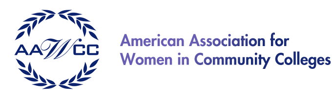 American Association for women in community colleges logo
